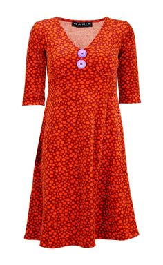 Bibbi Velour Dress orange – MANIA Copenhagen