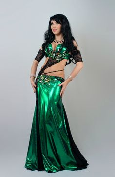 Belly dance costume, designer Fatima Habib