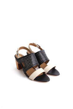 4a766f4008a3 Nina Payne Evan sandals in black ivory Slingback Sandal