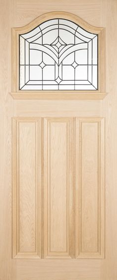 The Oak Brookland is Triple Glazed and is well suited to both modern and traditional houses. The mouldings around the glazing and lower panels are raised. External Oak Doors, Exterior Doors, Traditional House, Contemporary, Modern, Front Porch, Home Decor, Entrance Gates, Trendy Tree