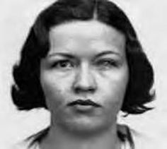 Blanche Barrow, member of Bonnie Clyde's gang, at the moment of her capture in August, 1933. Description from pinterest.com. I searched for this on bing.com/images