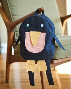 A Stitch a Day: DIY Penguin Backpack perfect for traveling!