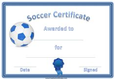 the best selections of soccer award certificates are here for you to be used as season gifts and rewards for your players - Soccer Award Certificate Templates Free