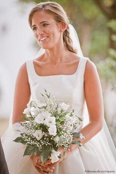 novia con ramo