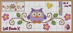 Cross Stitch Owl, Cross Stitch Bookmarks, Cross Stitch Animals, Cross Stitch Flowers, Cross Stitch Charts, Cross Stitch Designs, Cross Stitching, Cross Stitch Embroidery, Embroidery Patterns