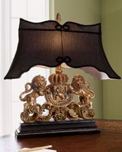 """Lion Crest Lamp Original:  415.00 Special Value: 314.90    """"Crystal Ball"""" Lamp Compare At:  325.00"""
