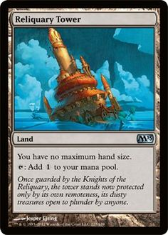 Magic: the Gathering - Reliquary Tower (227) - Magic 2013 by Wizards of the Coast. $0.70. A single individual card from the Magic: the Gathering (MTG) trading and collectible card game (TCG/CCG).. This is of Uncommon rarity.. From the Magic 2013 (M13) set.. Magic: the Gathering is a collectible card game created by Richard Garfield. In Magic, you play the role of a planeswalker who fights other planeswalkers for glory, knowledge, and conquest. Your deck of cards repre...