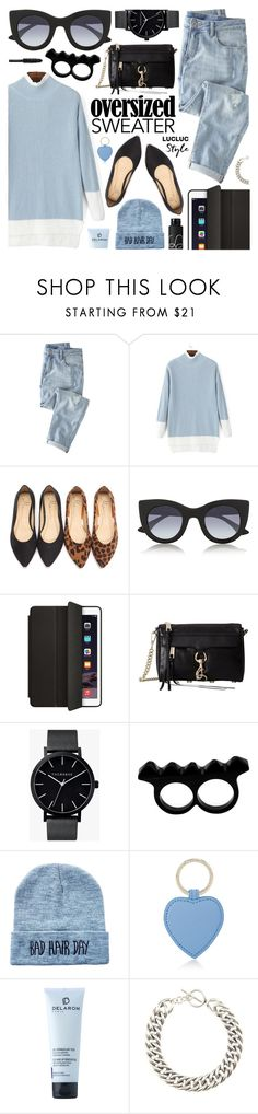 """""""Lucluc Oversized Sweater"""" by pastelneon ❤ liked on Polyvore featuring Wrap, Thierry Lasry, Rebecca Minkoff, The Horse, L'Artisan Créateur, Smythson, DELAROM, Yves Saint Laurent and NARS Cosmetics"""
