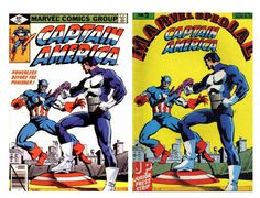 Today's Comic Cover - Captain America #240 (1979) and the Dutch version called Marvel Special