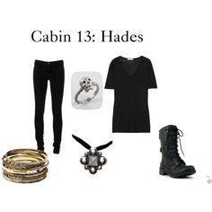 """""""Cabin 13: Hades"""" by lillyred on Polyvore"""