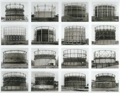 Gasbehälter (Gas Tanks) Image VII from series: Typologies, 2008, Bernd and Hilla Becher
