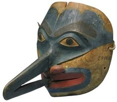 Tlingit mosquito mask. Early 19th century. Kunstkamera collection. @cargocultist