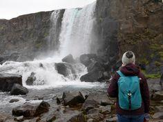 Sarah Sanders exploring Iceland with here Teal Arkaig.