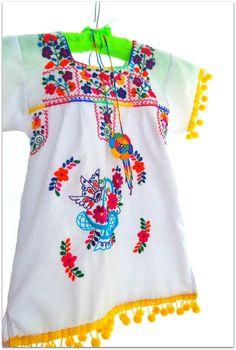 Eliza white Handmade mexican Baby dress on Etsy, $45.00