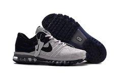 299cfcd5bf9 Nike Air Max 2017 Grey Black Sports Running Shoes Air Max Nike Shoes