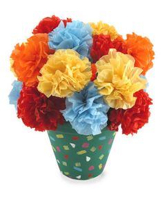 Kids Craft Corner:  Make gorgeous Mexican Fiesta Flowers!