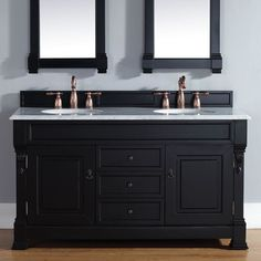 Palazzo 60-Inch Double Bathroom Vanity contemporary 60 inch double sink bathroom vanity mahogany finish