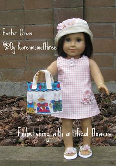 Karen Mom of Three's Craft Blog: Embellishing your dolls outits with artifical flowers
