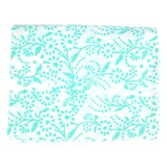 Turquoise Floral Tablecloth