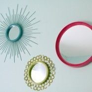 DIY WALL MIRRORS...cute for a young girls room!