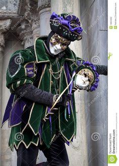 Venice Masquerade Costume | VENICE - MARCH 1, 2011: Man in joker costume poses during Venice ...