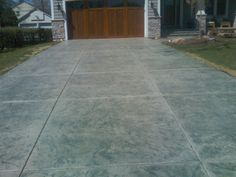 Stamped concrete driveway idea