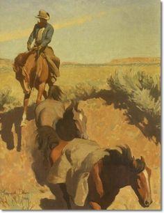 Maynard Dixon Art | Maynard Dixon Cut Bank Tucson 20x16 - American Art Artist Paintings ...