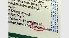 Bambi-Goreng - gefunden bei einem asiatischen Imbiss in Dresden Comic Sans, Laughter, Jokes, Company Logo, Kind, Restaurants, Bambi, Funny Things, Box