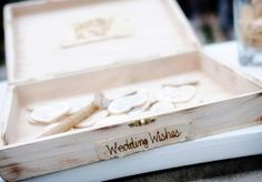 Wedding wishes guest book. Wedding by DFW Events. Photo by Andrea Polito Photography. #wedding #guestbook