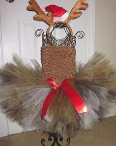 Reindeer+Tutu+Dress+with+Reindeer+Antler+by+SweetVBoutique+on+Etsy,+$45.00