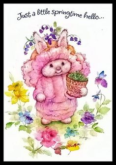351-GC Mary Hamilton RABBIT Unused Easter Greeting Card | eBay