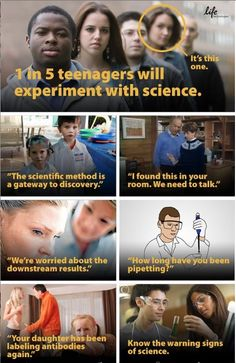 Know the warning signs of science. From Life Technologies Corporation.
