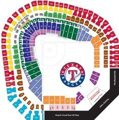 Printable texas rangers seating chart game packs texasrangers