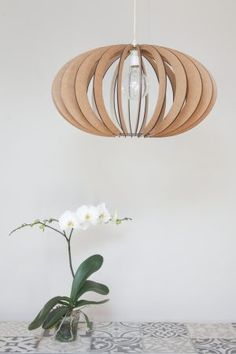 AssembLIT range of laser cut wooden light fittings : easy self assemble Electrical Stores, Bedside Lighting, White Stain, Light Fittings, Contemporary Design, Pendant Lighting, Light Bulb, Range, Ceiling Lights