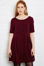 Staring at Stars Babydoll Dress in Geo Paisley at Urban Outfitters