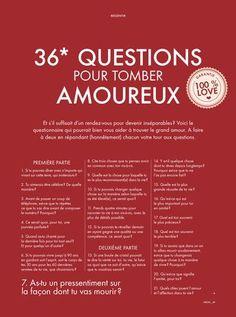 Les 36 questions pour tomber amoureux