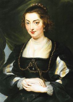 Workshop of Peter Paul Rubens. Portrait of Isabella Brandt, 1620.