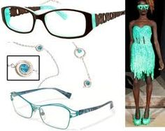 Love the colour in these glasses - very on-trend for spring/summer #trend #eyewear #glasses #eyeglasses