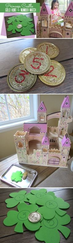 Gold Hunt and Number Match - Educational Activity for Children from Melissa & Doug *My kids would love this for St. Patrick's Day
