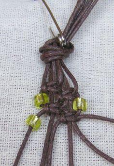 dupla gyöngysoros makramé karkötő készítése