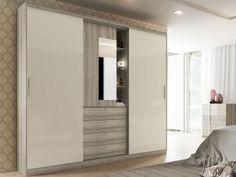 Guarda-roupa Casal 2 Portas de Correr 4 Gavetas - Móveis Carraro Emozione Áries com Espelho com as melhores condições você encontra no Magazine Diadpromocao. Confira!