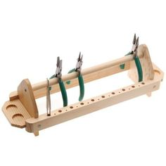 Wooden Plier And Tweezers Stand Tool Rack For Jewelers - Holds 12 Pliers: Amazon.co.uk: Kitchen & Home