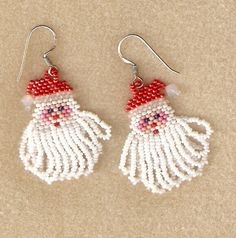 Santa Clause Earrings by beaderrific on Etsy, $15.00