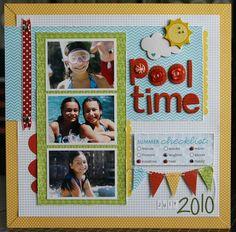 """""""Pool time"""" layout by Laura Vegas (Bella Blvd blog)"""