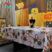 Beddom Fitas Holly Leaves Impresso Toalha de mesa de Tecido Toalha De Mesa De Natal Decoração Do Partido da Tabela Do Casamento Pano 150*180 centímetros(China (Mainland))