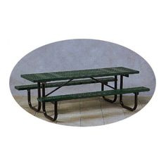 Outdoor Paris Equipment Commercial Picnic Table with Painted Frame