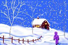images of winter wonderland art | Winter wonderland ← a landscape drawing by Sketchpad . Queeky