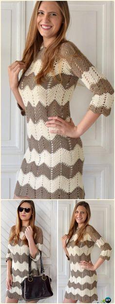 560f78a24d0 Crochet Chevron Dress Free Pattern - Crochet Women Dress Free Patterns Crochet  Long Dresses