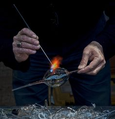 """The hands of the glassworker"" by Mehmet Akin"