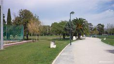 Fotografia do Centro Desportivo Nacional do Jamor, em 2014, junto aos campos de jogos.